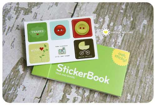 Similar printed moo sticker book
