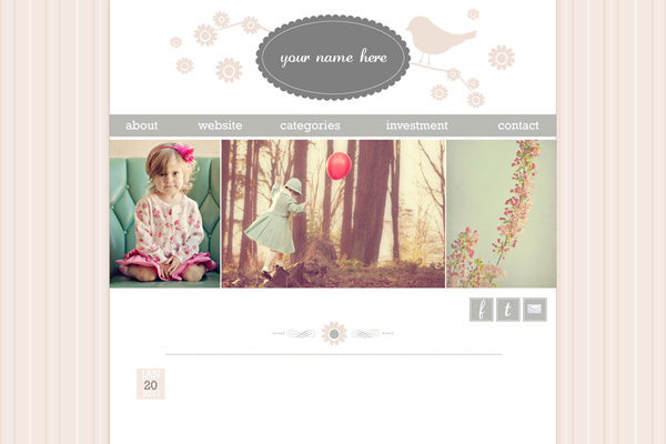 "Pre Made Blog Design- ""Belle"""
