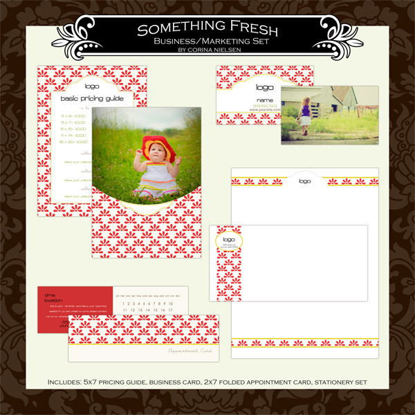 "Business & Marketing Set- ""Something Fresh"""