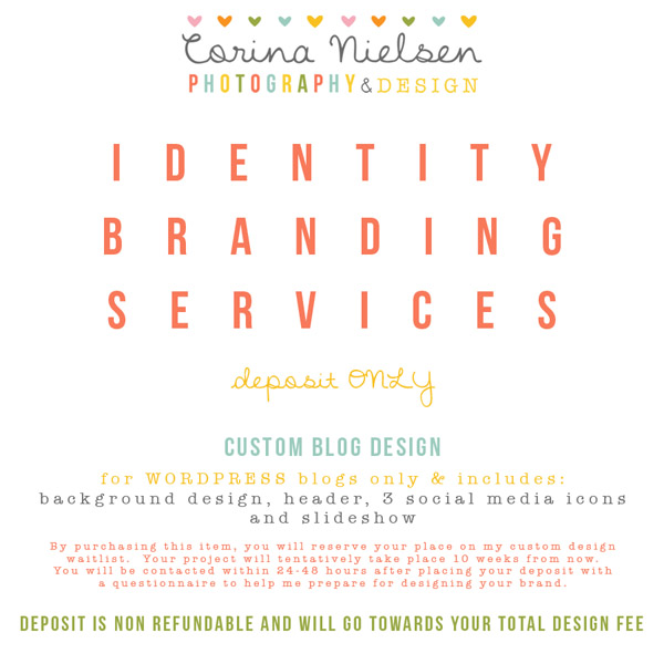 Custom Design Blog Package (Deposit)