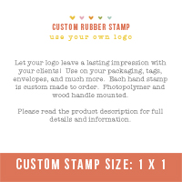 "Custom Stamp- Use your own logo (1"" x 1"")"