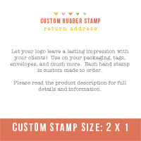 "Custom Stamp- Use your own logo (2"" x 1"")"