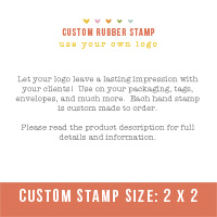 "Custom Stamp- Use your own logo (2"" x 2"")"