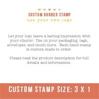 "Custom Stamp- Use your own logo (3"" x 1"")"