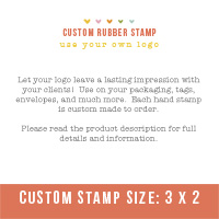 "Custom Stamp- Use your own logo (3"" x 2"")"