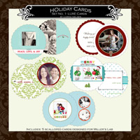 Holiday Cards- Set  1 LUXE