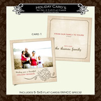 Holiday Cards- Set  2 (Card 1)