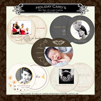 Holiday Cards- Set  2 LUXE