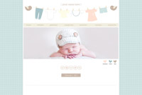 "Pre Made Blog Design- ""Little Miracle"""