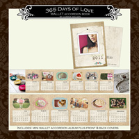 365 Days of Love Wallet Accordion Book