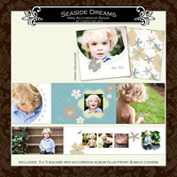 "3 x 3 Mini Accordion Album- ""Seaside Dreams"""