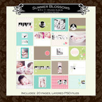 Summer Blossom's 8.5 x 11 Hinged Album