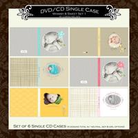 """DVD/CD Case Set 1 """" Whimsy & Sweet"""""""